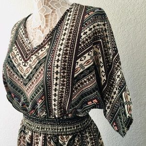 Multi-colored pattered dress